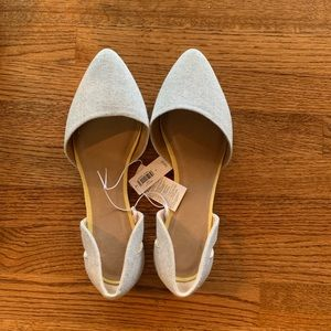 Gray Pointed Toe Flats